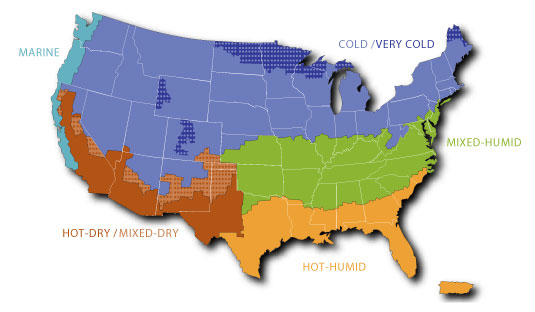 Commercial Buildings Energy Consumption Survey CBECS US - 4 regions of us map