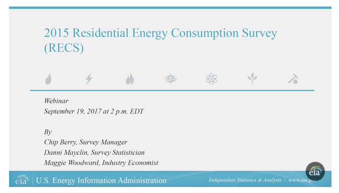 Recording of the 2015 RECS Webinar held Sept. 19