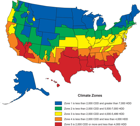 Residential Energy Consumption Survey RECS US Energy - Us map climate zones