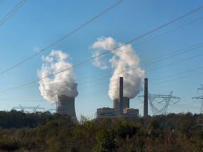 The two coal-fired power plants of the Crystal River North steam complex in Crystal River, Florida