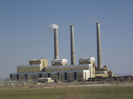 Hunter Power Plant, a Coal-Fired Power Plant South of Castle Dale, Utah