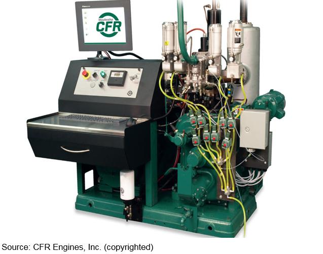 Изображение двигателя для определения октанового числа
