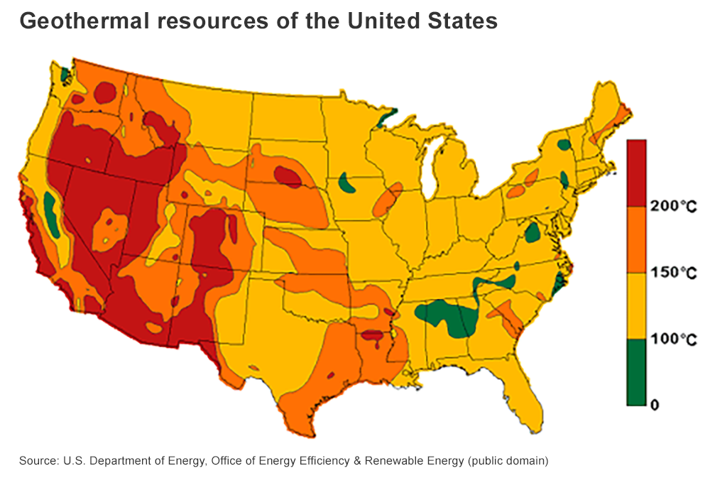 U.S. Geothermal Resource Map