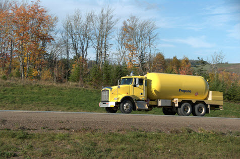 Image of a propane delivery truck