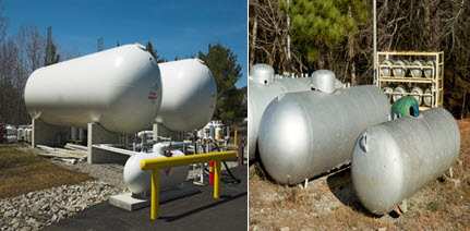 Image of propane storage tanks of various sizes