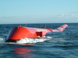 The Pelamis wave power device in use in Portugal