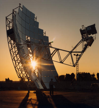 Image of a solar dish collector.