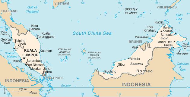 Figure 1. Map of Malaysia