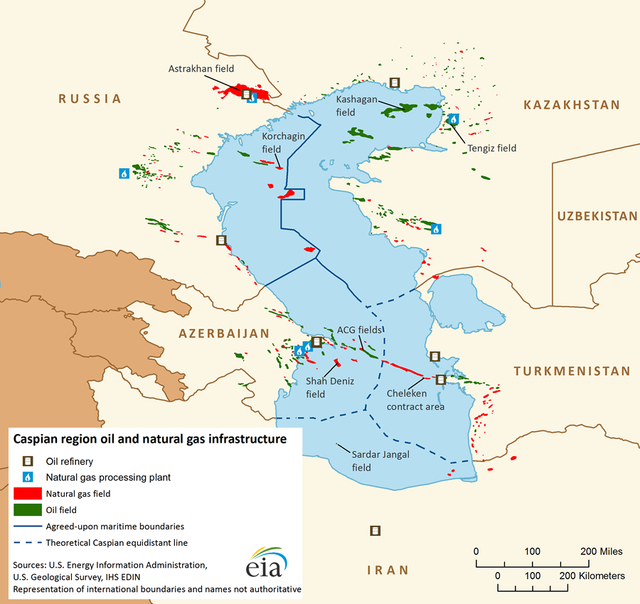 Caspian Sea - International - Analysis - U S  Energy Information