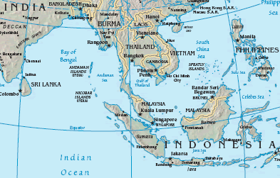 Map of Straits of Malacca