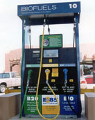 Photo image of biofuels pump.