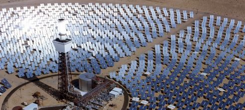 photo of concentrating solar power technologies offer utility-scale power production, as described in the article text
