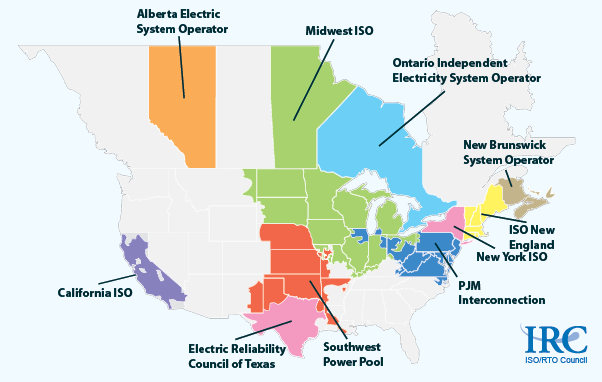 About 60 of the US electric power supply is managed by RTOs