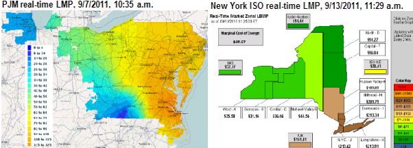 Wholesale Power Price Maps Reflect Real Time Constraints On