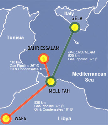 Libya resumes natural gas exports to italy today in energy us map of western libyan gas project source eni spa as described in the gumiabroncs Images