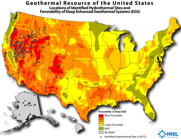 graph of geothermal resources of the U.S., as described in the article text