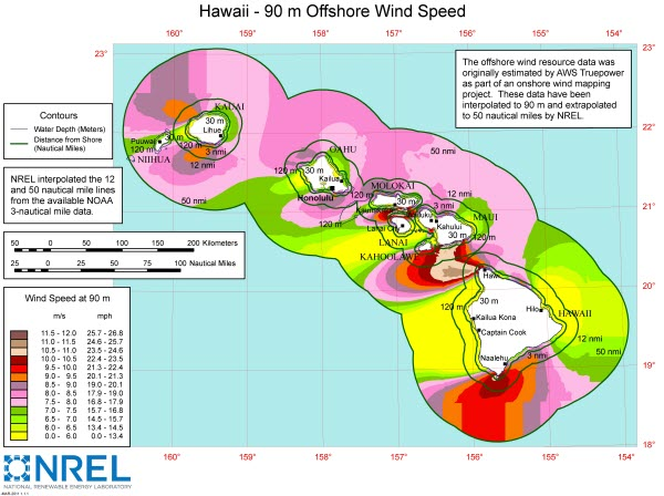 DOE Provides Detailed Offshore Wind Resource Maps Today In - Us average wind speed map