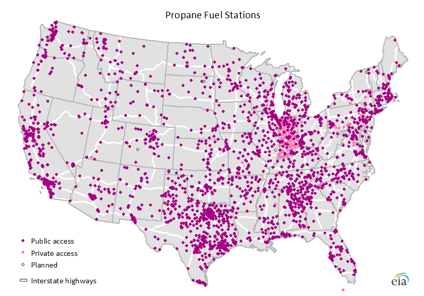 Map Of Alternative Transportation Fuel Stations In The United States As Described In The Article