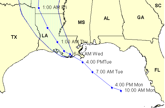 Hurricane Isaac Affects US Gulf Coast Energy Infrastructure - Us gulf coast map