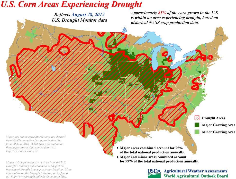 Drought Has Significant Effect On Corn Crop Condition Projected - Us growing season map