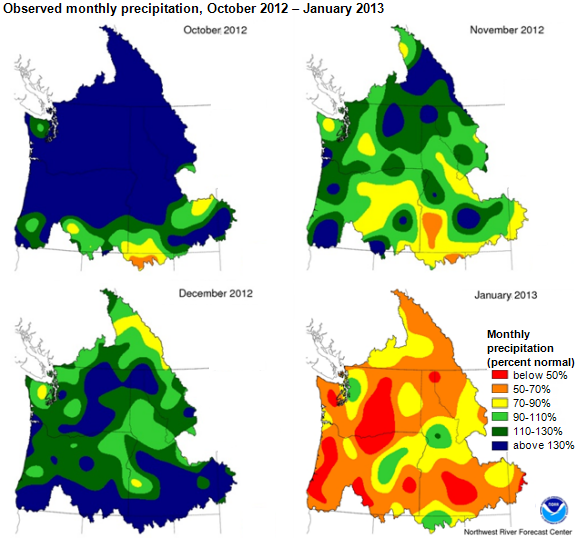 Maps of monthly precipitation, as explained in the article text