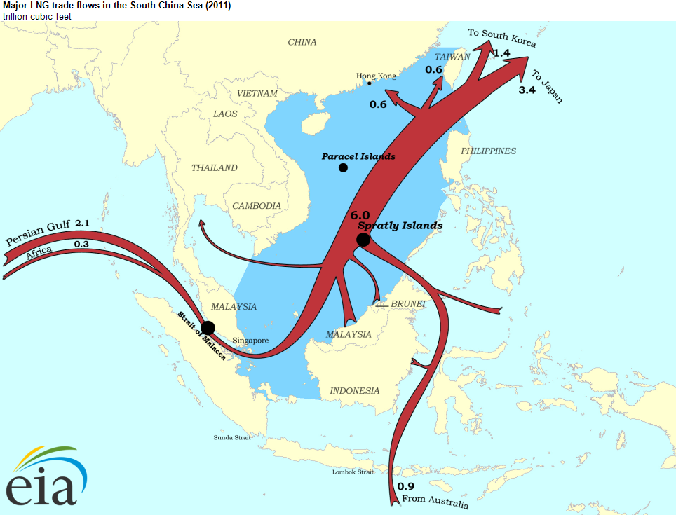 The south china sea is an important world energy trade route today note click map to enlarge gumiabroncs Choice Image