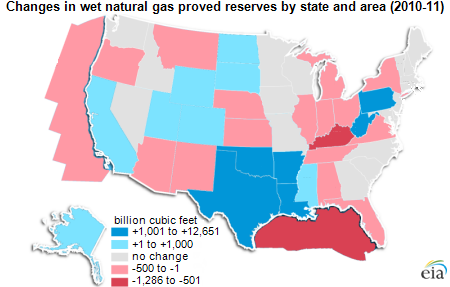 Map of wet natural gas reserves, as explained in the article text