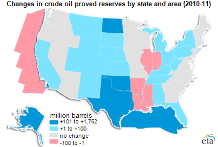 united states oil reserves map Proved reserves of crude oil and natural gas in the United States