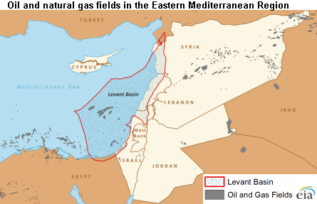 Map of eastern Mediterranean region, as explained in the article text