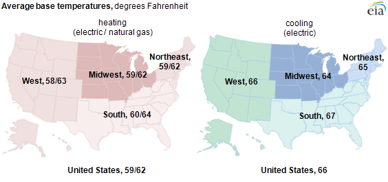 Map of average base temperature, as explained in the article text