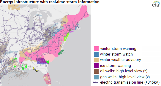 graph of energy infrastructure with real-time storm information, as explained in the article text