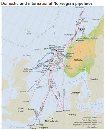 Norway Supplies More Than Of Europes Natural Gas Needs - Norway netherlands map