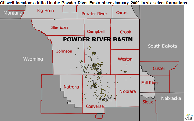 Powder River Wyoming Map.New Petroleum Technology Revitalizes Powder River Basin Oil