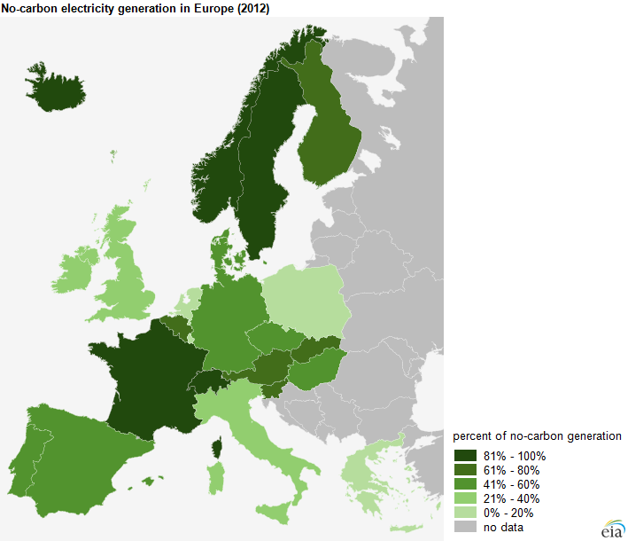 European Nations Are Increasing Electricity Generation Using No - Biomass power consumption map us