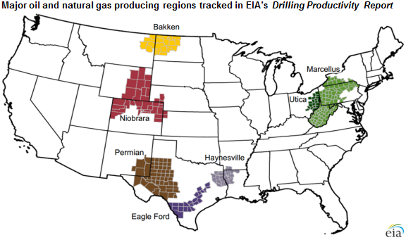 Texas Leads Nation In Growth In Oil And Natural Gas Production - Oil from texas in us map