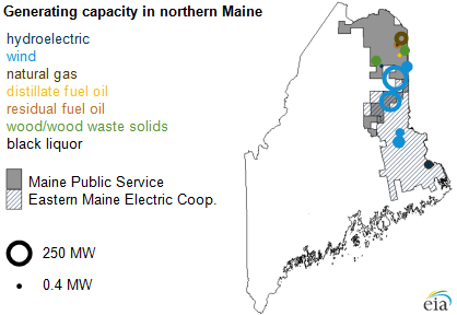 Northern Maine Considers Options To Gain Direct Access To New - Map of eastern maine