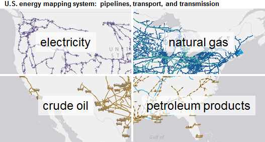 Eias Mapping System Highlights Energy Infrastructure Across The - Gasoline-pipeline-map-us