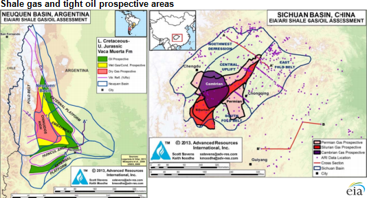 argentina and china lead shale development outside north america in first half 2015