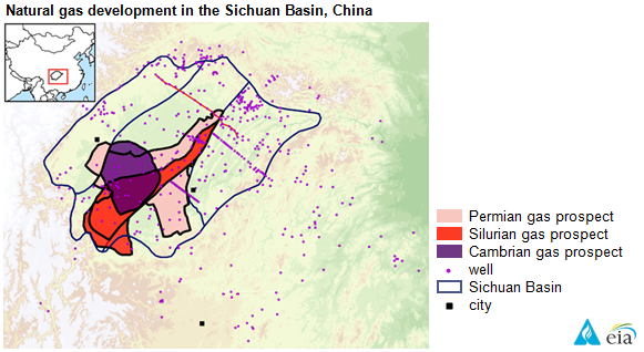 map of natural gas development in the sichuan basin china as explained in the