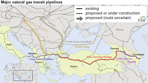 Natural gas pipelines under construction will move gas from