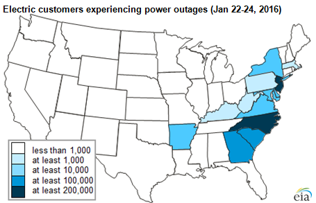 East Coast winter storm was a whopper: 1M customers without power