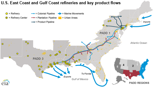 pipelines tankers and barges convey transportation fuels