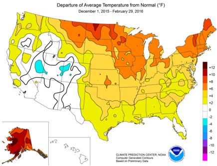 Strong El Niño helps reduce U.S. winter heating demand and ...