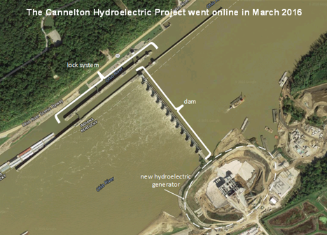 image of Cannelton Hydroelectric Project, as explained in the article text