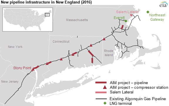 map of Algonquin gas pipeline, as explained in the article text