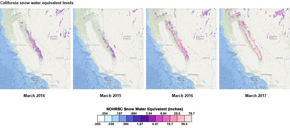 Source California Nevada River Forecast Center Note