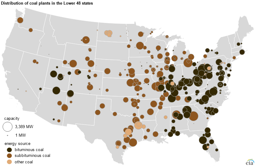 Most coal plants in the United States were built before 1990 ...