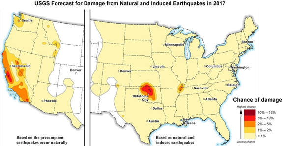 Earthquake trends in Oklahoma and other states likely