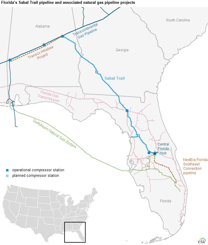 Florida S Sabal Trail Pipeline And Associated Natural Gas Pipeline