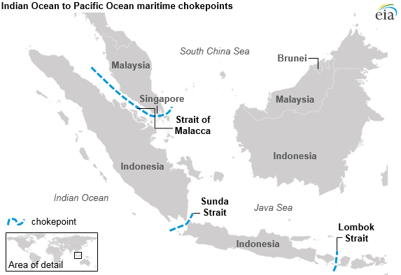 Strait Of Malacca Map The Strait of Malacca, a key oil trade chokepoint, links the